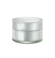 cream jar mock up in realistic style vector image