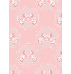 Delicate pink seamless background vector image