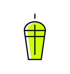 drink icon vector image