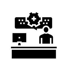 Employee working process glyph icon vector