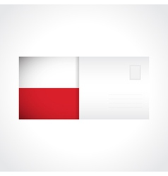 Envelope with Polish flag card vector image