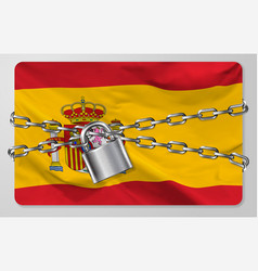 flag kingdom spain vector image