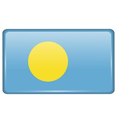 Flags Palau in the form of a magnet on vector