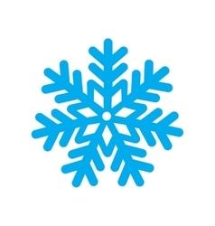 Flat icon with long shadow Christmas snowflake vector