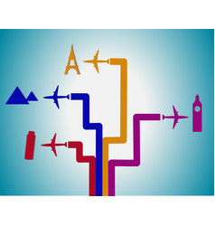 Flight destination vector image