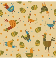 funny hen seamless background vector image