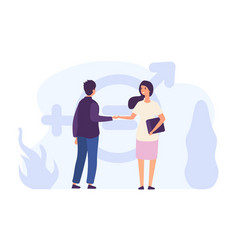 gender equality concept male and female flat vector image