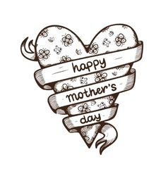 Heart with text for Mothers day vector image