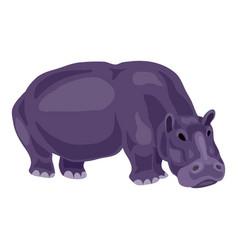 hippopotamus icon cartoon style vector image