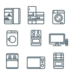 Home appliances modern linear modern concept vector