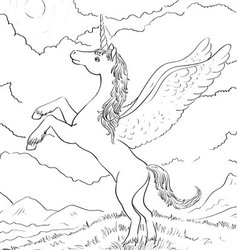 Horse coloring vector