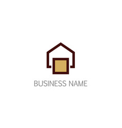 house architecture line company logo vector image