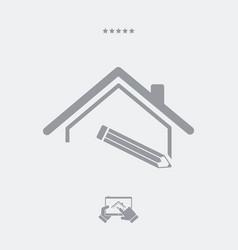 House design - web icon vector
