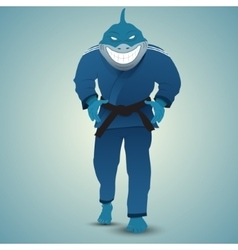 judoka shark vector image