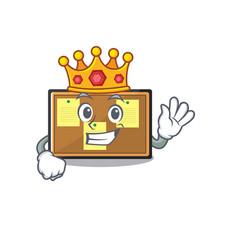 King toy bulletin board on cartoon vector