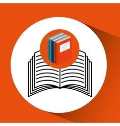 Library books school e-learning vector