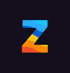 logo letter z colorful blue red orange vector image