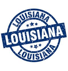 Louisiana blue round grunge stamp vector