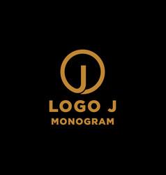 luxury initial j logo design icon element isolated vector image