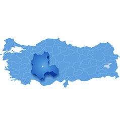 Map of Turkey Konya vector