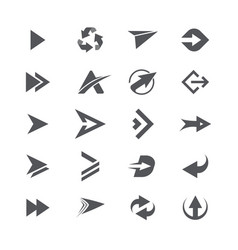 Modern simple icons and logos set of arrows vector