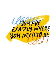 motivational quote handwritten black calligraphy vector image