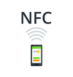 nfc and mobile payment flat isolated concept near vector image