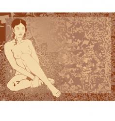 Nude girl vector