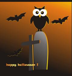 owl halloween vector image
