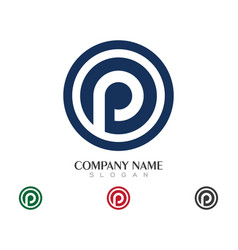 P letter logo business vector