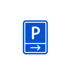 parking zone to right roadsign isolated vector image
