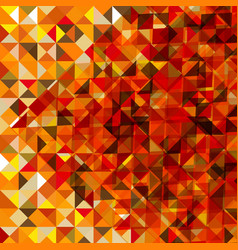 Polygonal autumn background vector