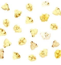 Popcorn falling on white background vector image
