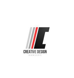 Red black alphabet letter i logo icon design for vector