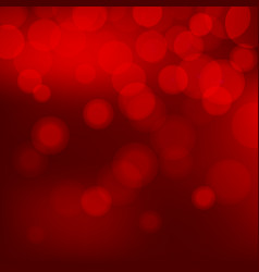 red christmas background with bokeh lights vector image