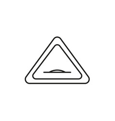 road hump sign icon vector image