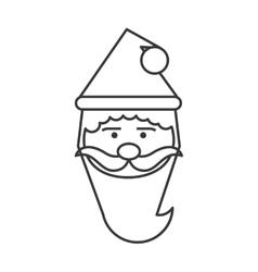 Santa merry chistmas design vector