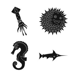 sea and animal sign vector image