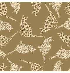 Seamless pattern of wild cats vector image