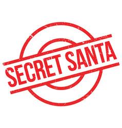 Secret santa rubber stamp vector