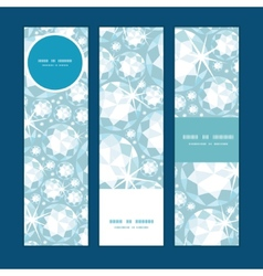 shiny diamonds vertical banners set pattern vector image