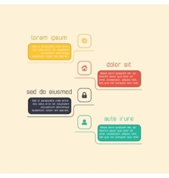 Simple infographic template suitable for business vector image