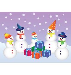 Snowmen vector
