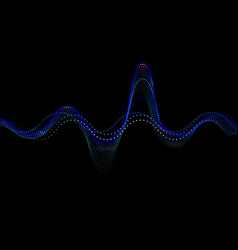 sound wave rhythm background blue color vector image