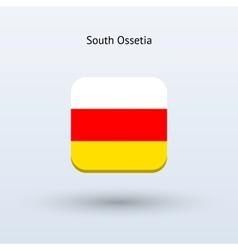 South Ossetia flag icon vector
