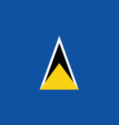 St lucia flag for independence day and vector
