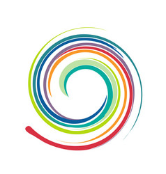 Swirly circular colorful art paint vector