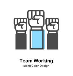 Team working mono color vector