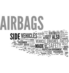 The benefits of airbags text background word vector