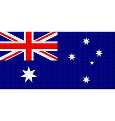 The mosaic flag of Australia vector